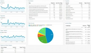 SEO Dashboard sample